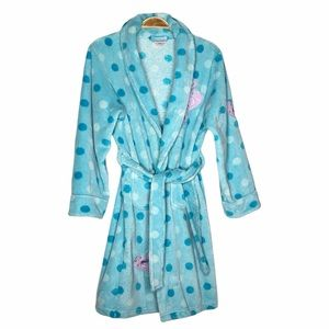 Pekkle Dotted blue Girl Cozy Robe - Size 14/16